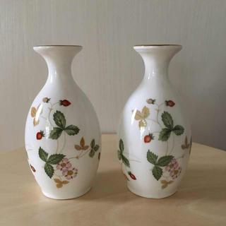 WEDGWOOD - ウエッジウッド ワイルドストロベリー 花瓶 ペア