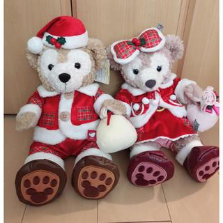 Disney - ダッフィー シェリーメイ クリスマス サンタ コスチューム ぬいぐるみ S