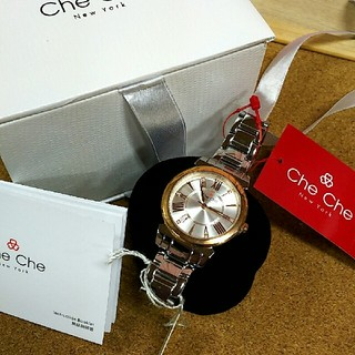 チチニューヨーク(Che Che New York)の【新品】CheChe newyork  腕時計  スワロフスキー(腕時計)