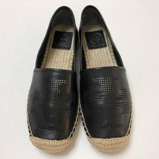 トリーバーチ(Tory Burch)の超美品 トリーバーチ エスパドリーユパンチングレザーシューズ 靴(その他)