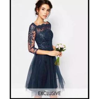 エイソス(asos)のASOS ドレス ワンピース 結婚式(ひざ丈ワンピース)