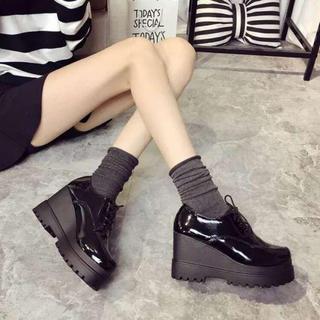 ■24.5cm パンプス 厚底 シンプル 足長 美脚  軽い エレガント 新作(ハイヒール/パンプス)