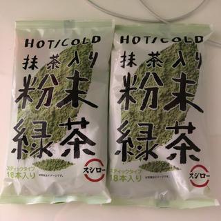 スシロー 粉末 緑茶 カテキン 抹茶入り 18本入り×2袋(茶)