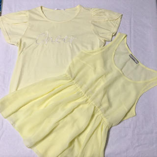 オリーブデオリーブ(OLIVEdesOLIVE)のRETORO GIRL Tシャツ&OLIVEdesOLIVEノースリーブセット(Tシャツ(半袖/袖なし))