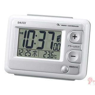 リズム時計 目覚まし時計 電波 デジタル ジャストウ(置時計)