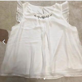 オリーブデオリーブ(OLIVEdesOLIVE)の白トップス(カットソー(半袖/袖なし))