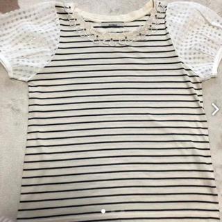 オリーブデオリーブ(OLIVEdesOLIVE)のボーダートップス(Tシャツ(半袖/袖なし))