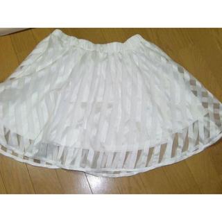 ウィゴー(WEGO)の定価3000円◆斜めストライプ柄スカート(ミニスカート)