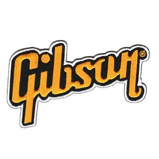 ギブソン(Gibson)■ワッペン■黄黒白(6.3*11cm)-gbs001(アコースティックギター)