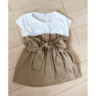 シマムラ(しまむら)の新品♡ビスチェ トップス ドッキングTシャツ(カットソー(半袖/袖なし))