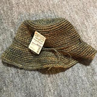 ムジルシリョウヒン(MUJI (無印良品))の無印良品 フラットハット 麦わら帽子(麦わら帽子/ストローハット)