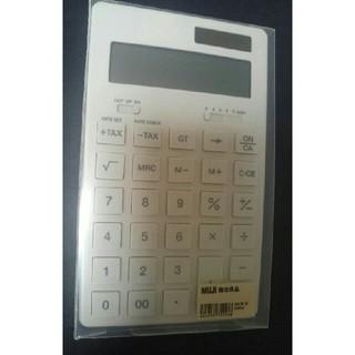 MUJI (無印良品) - 【未使用】無印良品  電卓/白・大