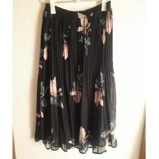 シマムラ(しまむら)の*新品しまむら花柄シフォンプリーツスカート*L(ひざ丈スカート)