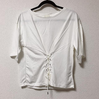 ジーユー(GU)の未使用タグ付 GUコルセットTシャツ(Tシャツ(半袖/袖なし))