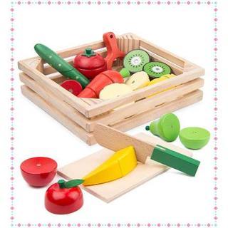 サクッと切れるおままごとセット❤︎木製おもちゃ❤︎野菜❤︎果物(知育玩具)