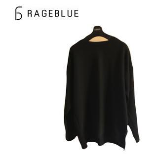 RAGEBLUE - RAGEBLUE クルーネック 黒