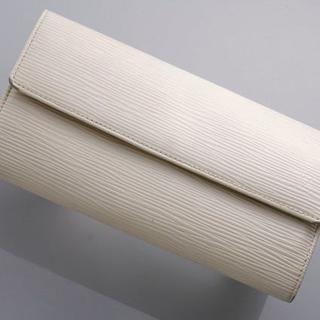 ルイヴィトン(LOUIS VUITTON)のG2469 本物 SPAIN ヴィトン エピ サラ アイボリー 二つ折 長財布 (財布)