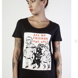 アチャチュムムチャチャ(AHCAHCUM.muchacha)の【新作】新品 DISTURBIA CLOTHING サタンとお友達 Tシャツ(Tシャツ(半袖/袖なし))