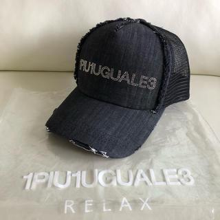 ウノピゥウノウグァーレトレ(1piu1uguale3)の1PIU1UGUALE3 ウノピュウノウガーレトレ ラインストーン帽子 キャップ(キャップ)