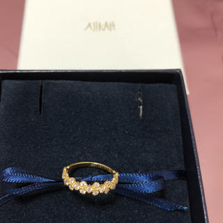 アーカー(AHKAH)の【美品】AHKAHフローレントk18イエローゴールドダイヤリング(リング(指輪))