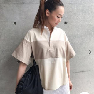 【美品・今期】アメリカーナ ラガーシャツ ベージュ