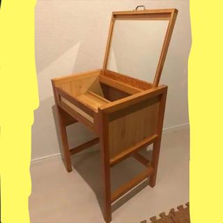 MUJI (無印良品) - レトロ 木彫ドレッサー