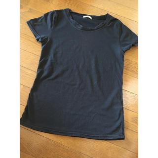 オリーブデオリーブ(OLIVEdesOLIVE)のTシャツ トップス 半袖 レディース 黒 ブラック オリーブデオリーブ Mサイズ(Tシャツ(半袖/袖なし))
