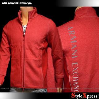 アルマーニエクスチェンジ(ARMANI EXCHANGE)の新品 アルマーニエクスチェンジ M L 背中ロゴ トラックジャケット 赤(ジャージ)
