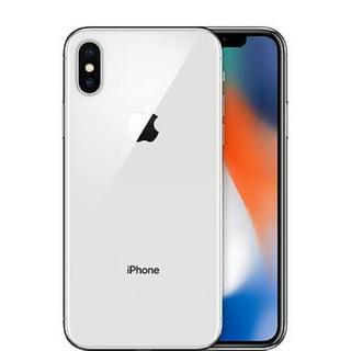 アイフォーン(iPhone)のiPhone X シルバー 64GB SIMフリー ガラスフィルム付 送料無料(スマートフォン本体)