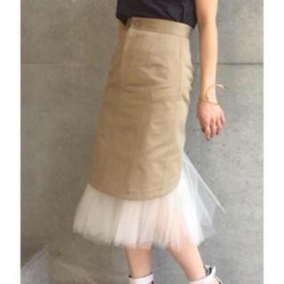 アクアガール(aquagirl)のアクアガール チュール付きスカート(ひざ丈スカート)
