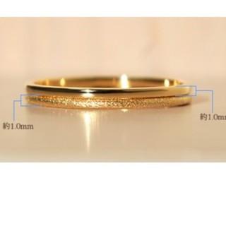 k18ゴールド 華奢 セットリング 3号(リング(指輪))