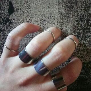 六連 リング 指輪 ノーブランド リング(リング(指輪))