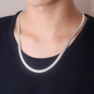 銀 シルバーネックレス 喜平 ネックレス シルバー925ネックレス  メンズ(ネックレス)