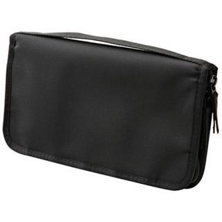 MUJI (無印良品) - 【完売品】無印良品 パスポートケース ブラック クリアポケット付き