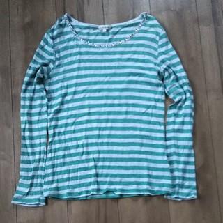 サンカンシオン(3can4on)の美品 3can4on ラメ入りボーダー長袖  サイズ3(Tシャツ(長袖/七分))