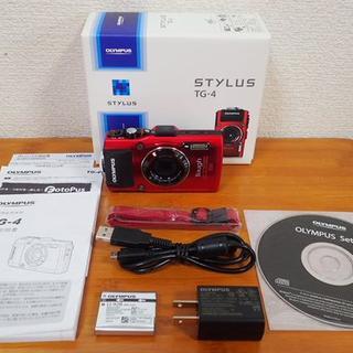 オリンパス(OLYMPUS)の★OLYMPUS  Tough  TG-4 レッド 超美品 シャッター:195回(コンパクトデジタルカメラ)
