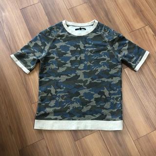 イーブス(YEVS)のYEVS  迷彩  スウェット生地 トップス M(Tシャツ/カットソー(半袖/袖なし))