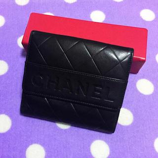 美品 希少品 正規品 高級 CHANEL シャネル 財布 ブラック