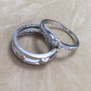 スタージュエリー(STAR JEWELRY)の値下 スタージュエリー star jewelry 18金 ダイヤ リング セット(リング(指輪))