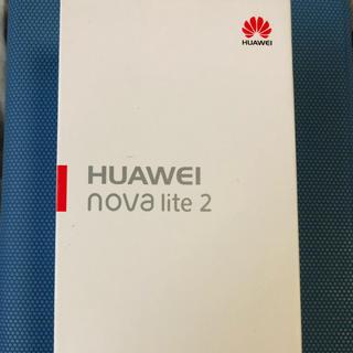 アンドロイド(ANDROID)の新品未使用 simフリー HUAWEI nova lite2 黒①(スマートフォン本体)