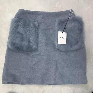 GRL - グレイル 台形スカート ファーポケット