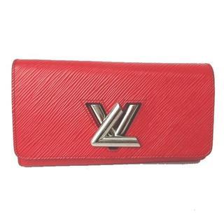 ルイヴィトン(LOUIS VUITTON)のルイヴィトン ヴィトン 長財布 財布 二つ折り エピ レザー 本革 赤 コクリコ(財布)