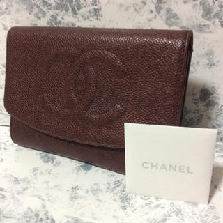 シャネル(CHANEL)の正規品/良品/CHANEL/シャネル/キャビアスキン/デカココ/三つ折り財布(財布)