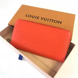 ルイヴィトン(LOUIS VUITTON)の美品⭐️ルイヴィトン 新型 ジッピーウォレット エピ ピモン オレンジ(財布)