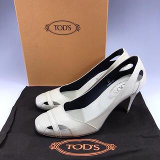 トッズ(TOD'S)の美品 正規品 TOD'S トッズ エナメル パンプス 靴類(ハイヒール/パンプス)