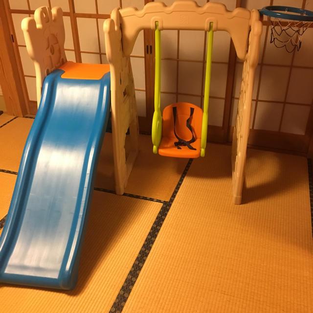 室内用大型遊具 ブランコ、滑り台、サッカーゴール、バスケットゴール キッズ/ベビー/マタニティのおもちゃ(ベビージム)の商品写真