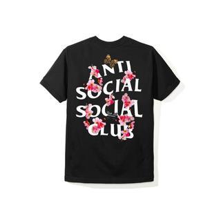 アンチ(ANTI)のAnti social social club Kkoch black tee(Tシャツ/カットソー(半袖/袖なし))