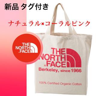 ザノースフェイス(THE NORTH FACE)のピンク♦新品♦ノースフェイス オーガニックコットン トートバッグ(トートバッグ)