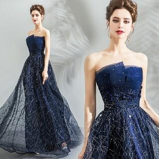 星空柄 パーティードレス ウェディングドレス  結婚式 二次会