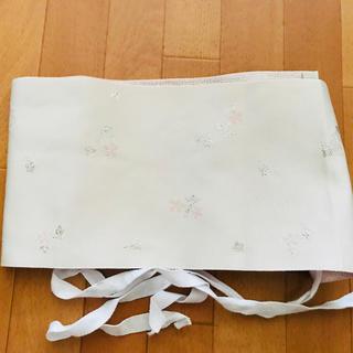 作り帯 白×ピンク(浴衣帯)